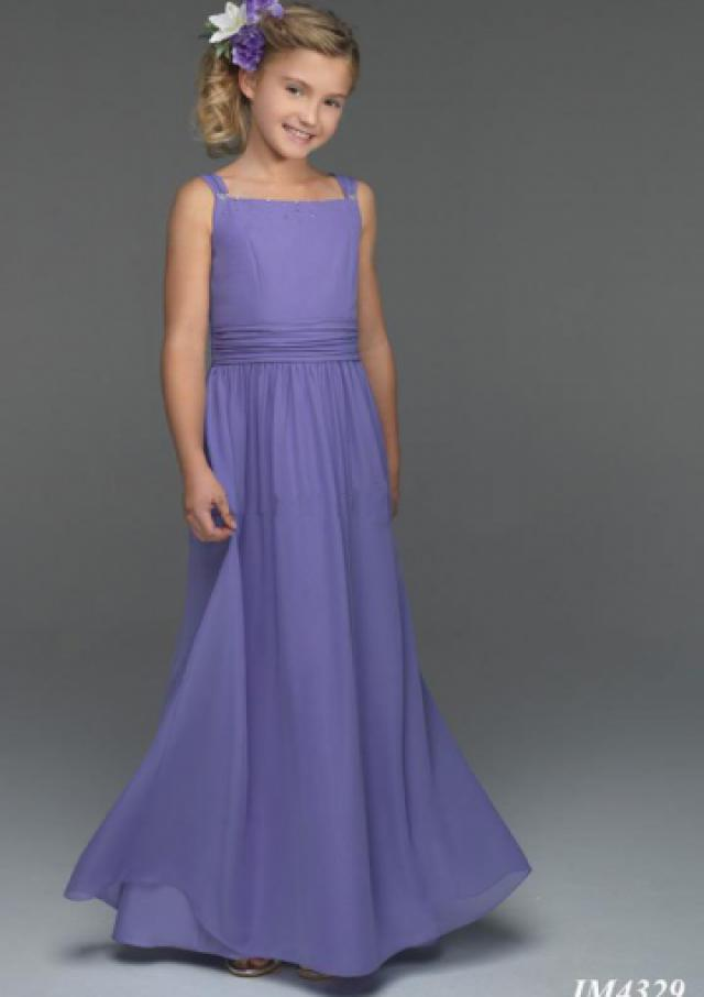 wedding photo - Lilac Buttons Sleeveless Chiffon Straps Ruched Floor Length