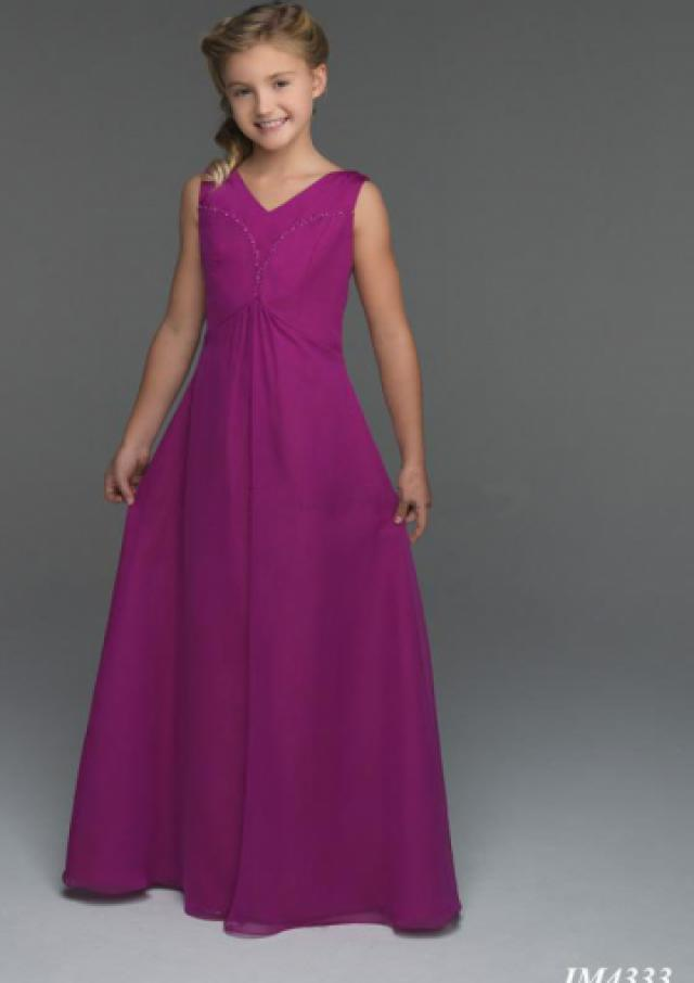 wedding photo - Lace Up Chiffon V-neck Ruched Purple Sleeveless Floor Length