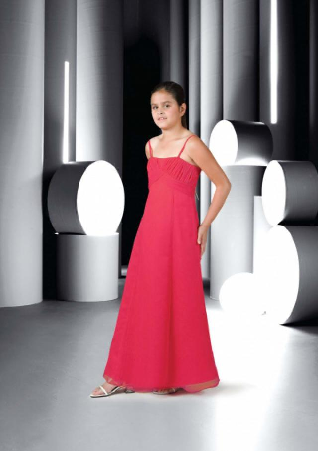wedding photo - Red Ruched Sleeveless Spaghetti Straps Chiffon Floor Length