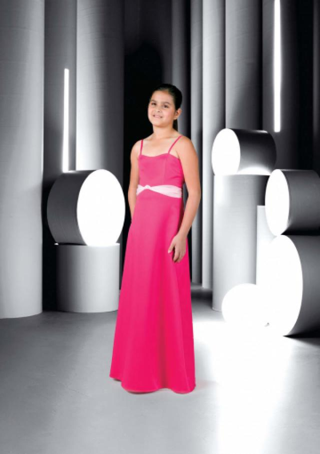wedding photo - Fuchsia Sleeveless Spaghetti Straps Chiffon Ruched Floor Length