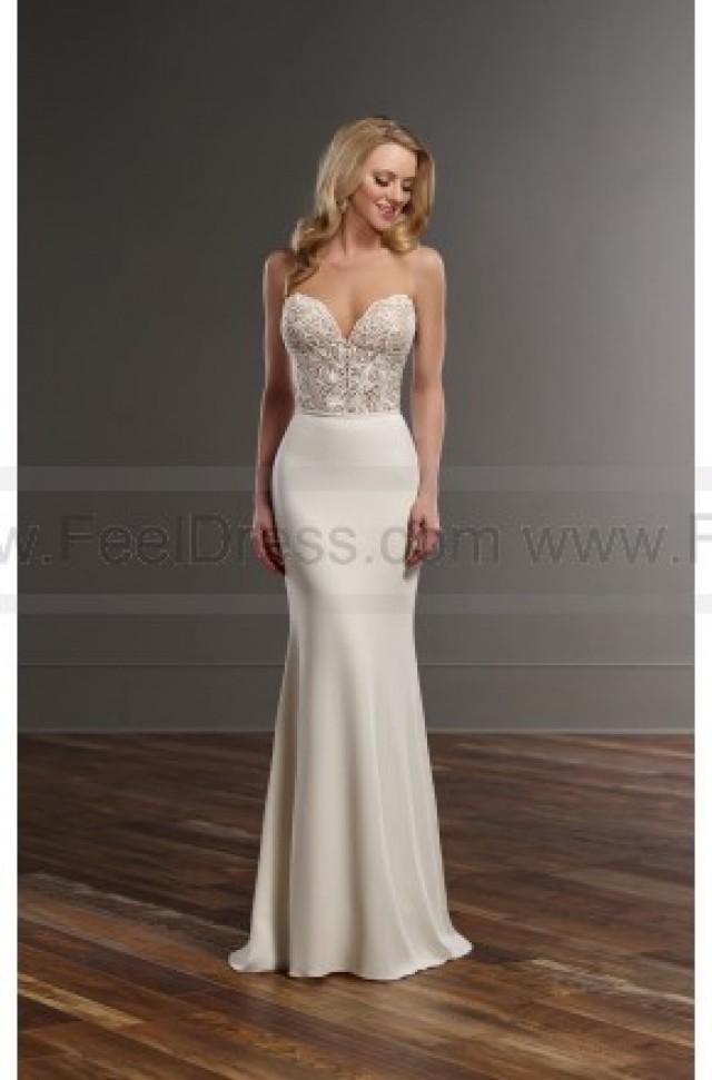 wedding photo - Martina Liana Glamorous Lace Wedding Separates Style Bryce   Sanja