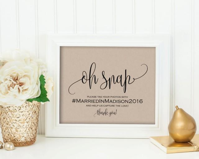 Wedding hashtag sign help us capture the love custom for Bathroom decor hashtags