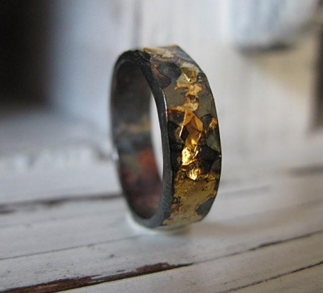 5mm man wedding band black gold ring man wedding ring commitment ring rustic man wedding band unique man wedding band viking wedding ring 2575105 - Viking Wedding Rings