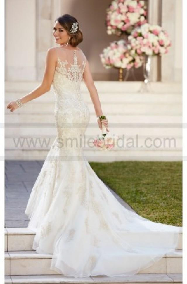 wedding photo - Stella York Fit And Flare Wedding Dress With Illusion Neckline Style 6298 - Wedding Dresses 2016 - Wedding Dresses