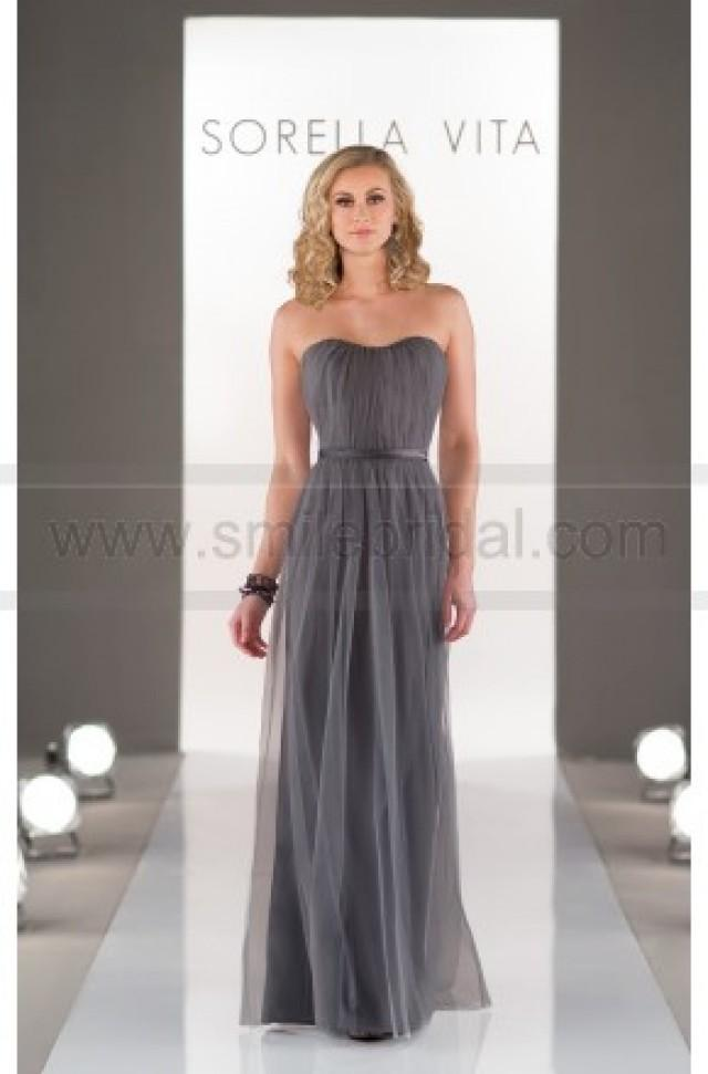 wedding photo - Sorella Vita Strapless Floor Length Gown Style 8468 - Bridesmaid Dresses 2016 - Bridesmaid Dresses