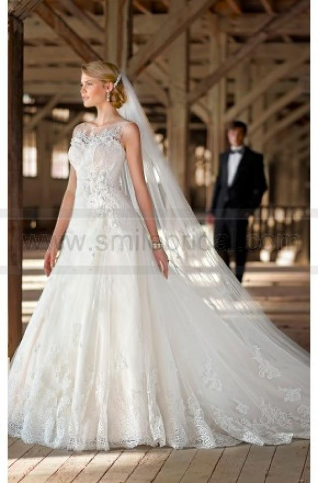 wedding photo - Essense Of Australia Wedding Dress Style D1369 - A Line Wedding Dresses - Wedding Dresses