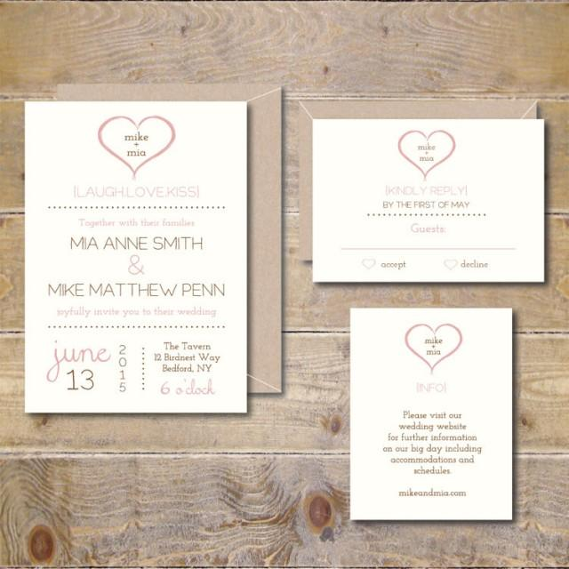 Heart Wedding Invitations Wedding Invites Rustic Wedding Invitations Heart Wedding Invites