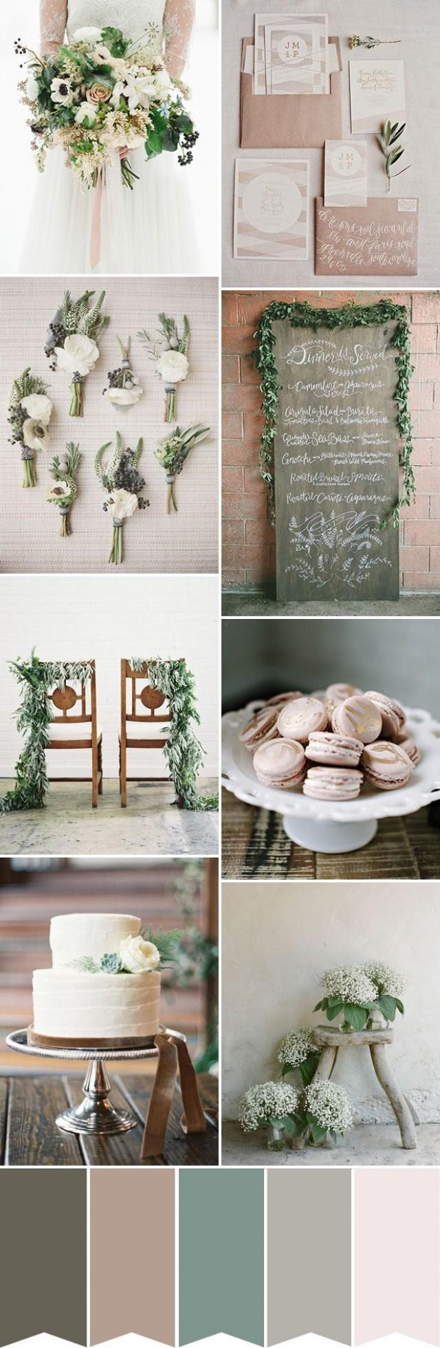 wedding photo - Natural Elegance - A Beautiful Rustic Wedding Palette