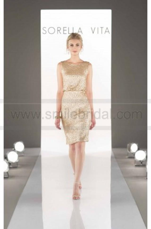 wedding photo - Sorella Vita Sequin Bridesmaid Dress Style 8823 - Bridesmaid Dresses 2016 - Bridesmaid Dresses