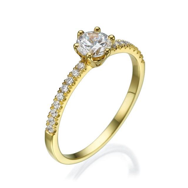 Engagement Ring, Diamond Ring, 14K Gold, Gift For Her, Birthday Gift, Diamonds, Engagement Gift