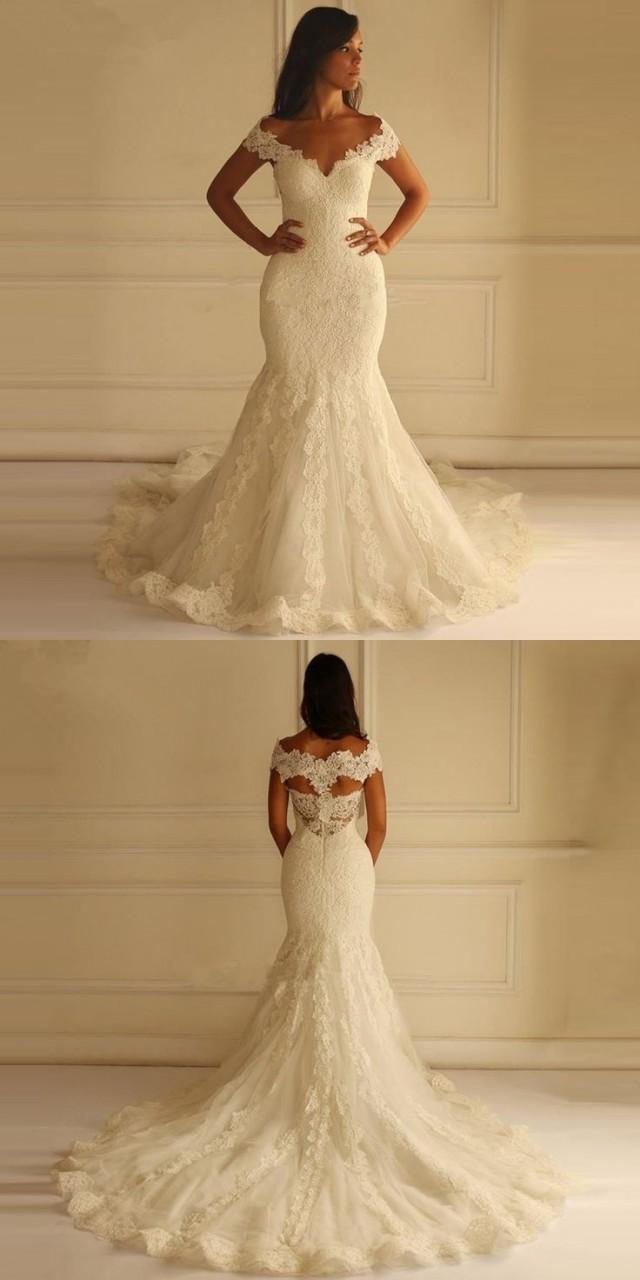 Robe de mariage sweetheart romantic wedding dresses 2016 for Lace sweetheart wedding dress cap sleeves