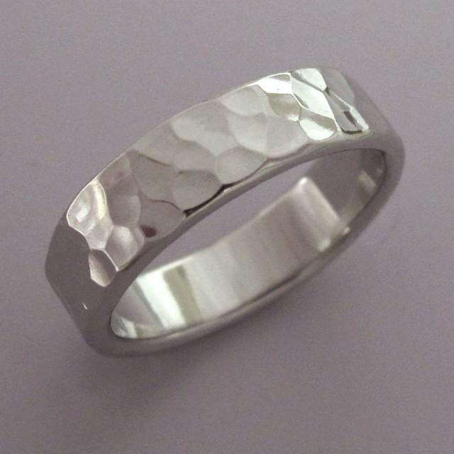 Hammered Palladium 950 Wedding Ring With Polished Or Matte ...