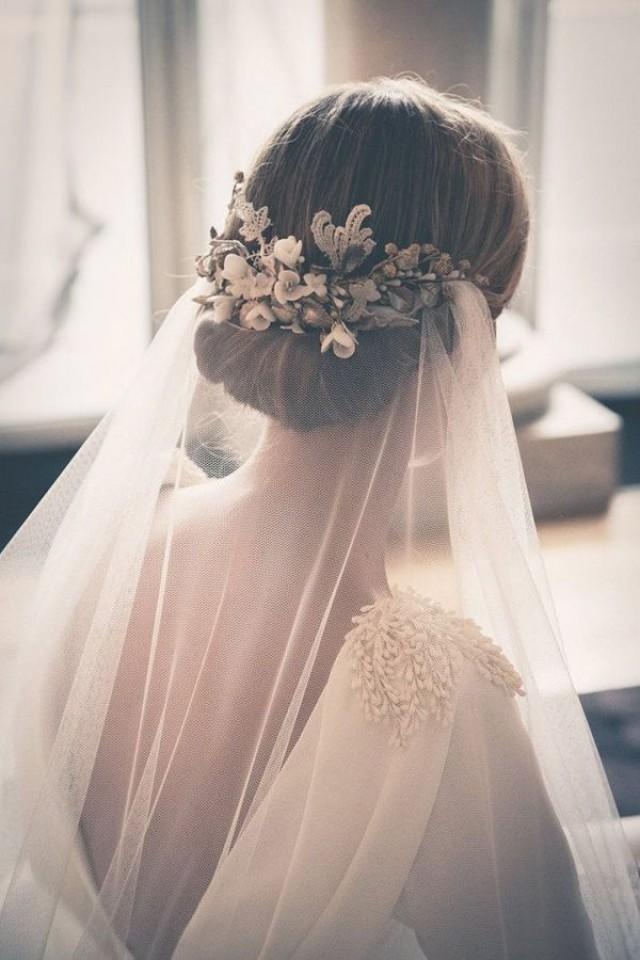 wedding photo - 39 Stunning Wedding Veil & Headpiece Ideas For Your 2016 Bridal Hairstyles