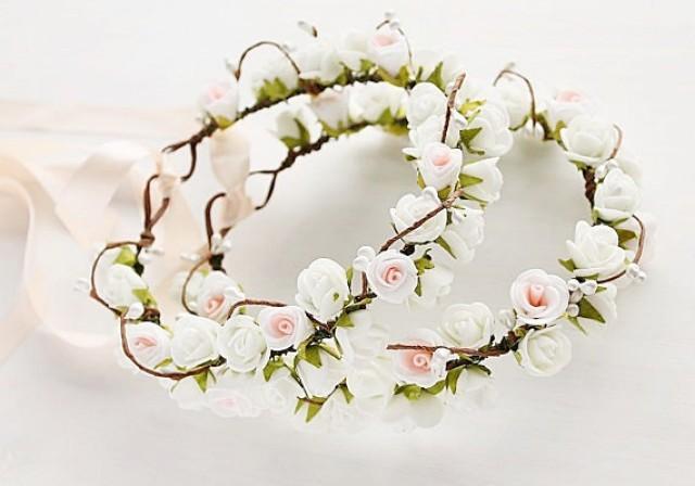 wedding photo -   , Toddler Crown, Boho Rose Crowns, Girls Crowns, Flower Girl Halo, Bridesmaid Crown, Flower Girl Circlet, Woodland Crown