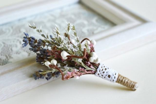 wedding photo - Rustic Boutonniere, Rustic wedding buttonhole, Groom lapel pin, Best man boutonniere, Country wedding, Dried grass boutonniere, Barn wedding