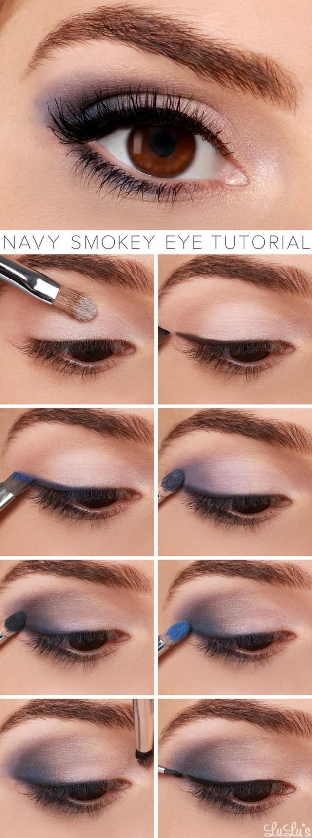 wedding photo - Lulus How-To: Navy Smokey Eye Makeup Tutorial