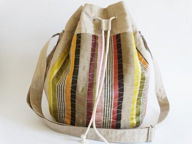 wedding photo - Urban Shoulder Bag,  Bucket , Beach Bag, Unique Fashion Handbag, Gift for Her, Trendy Hipster Handbag