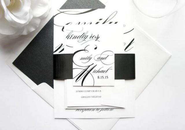 wedding photo - Calligraphy Wedding Invitation - SAMPLE SET