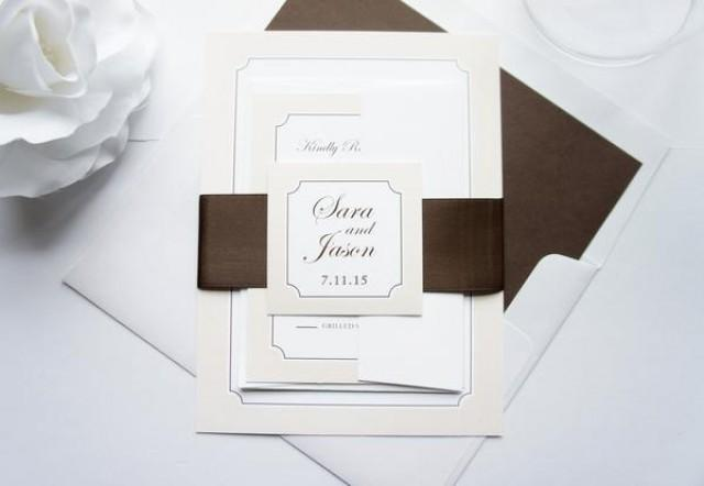 wedding photo - Classic Monogram Wedding Invitation - SAMPLE SET