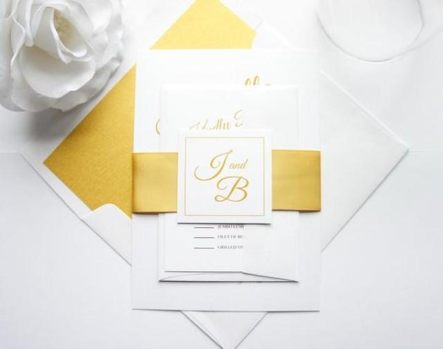 wedding photo - Gold Wedding Invitation - SAMPLE SET
