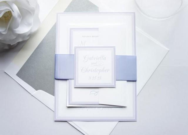 wedding photo - Light Purple Wedding Invitation - SAMPLE SET