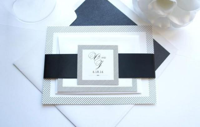 wedding photo - Modern Wedding Invitation - SAMPLE SET