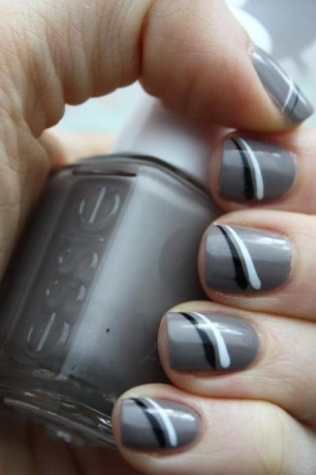 wedding photo - Elegant And Charming Gray Nail Art Designs