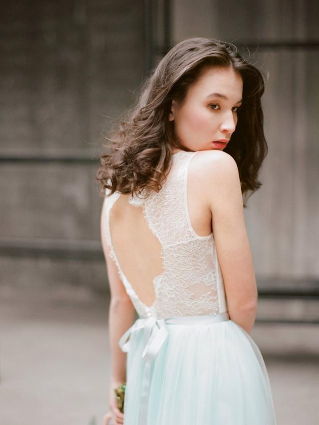 Hionia open back wedding dress lace wedding dress for T back wedding dress