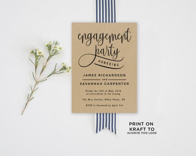 Engagement Party Invitation Template #2581199