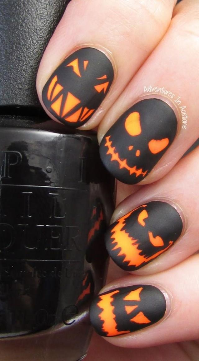 wedding photo - 65 Halloween Nail Art Ideas