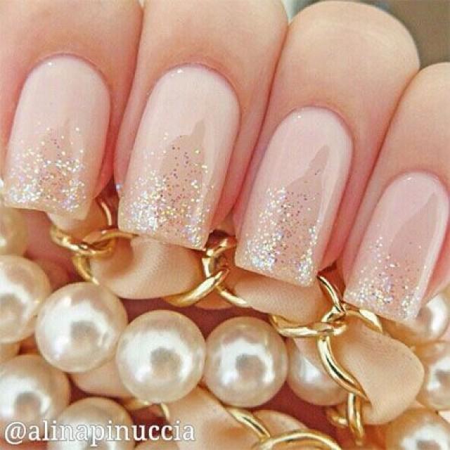 wedding photo - Simple Pink Wedding Nail Art Designs & Ideas 2014