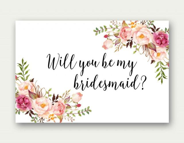 Will You Be My Bridesmaid Printable Bridesmaid Card