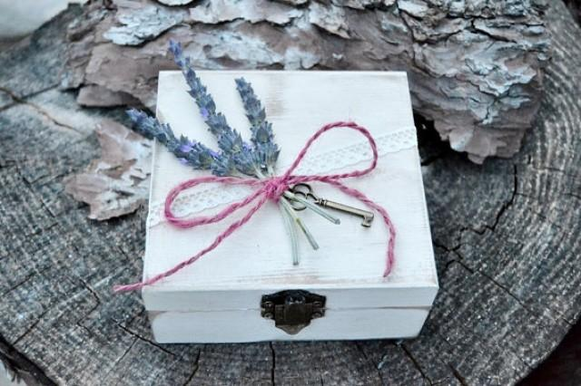 wedding photo - Rustic Ring Bearer Box lavander and moss. Alternative Wooden Rustic Box Ring Bearer . Custom ring bearer. Personalized Ring Bearer Box .