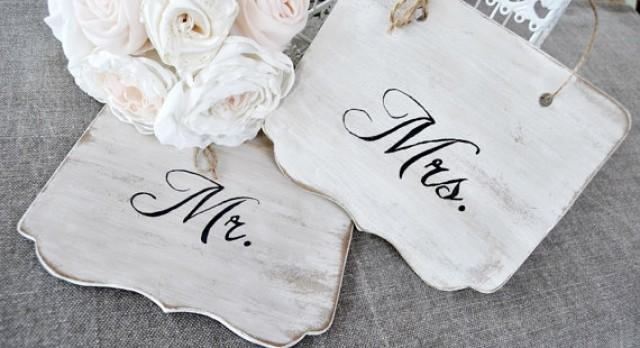 wedding photo - Mr and Mrs Chair Sign Black White. Rustic wooden wedding sign.Custom wooden sign chairs .Set 2 pieces., Photo Prop Signs. Sweetheart Table.
