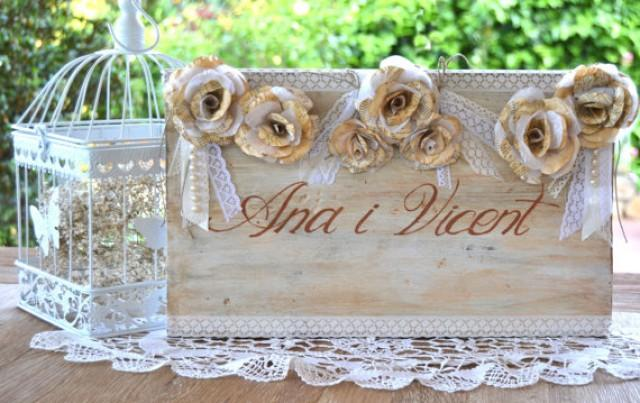 wedding photo - 1920s Wedding Sign, Custom wedding sign paper flowers, pearls, lace. Wood wedding signs. Vintage sign bride and groom names. Initials sing.