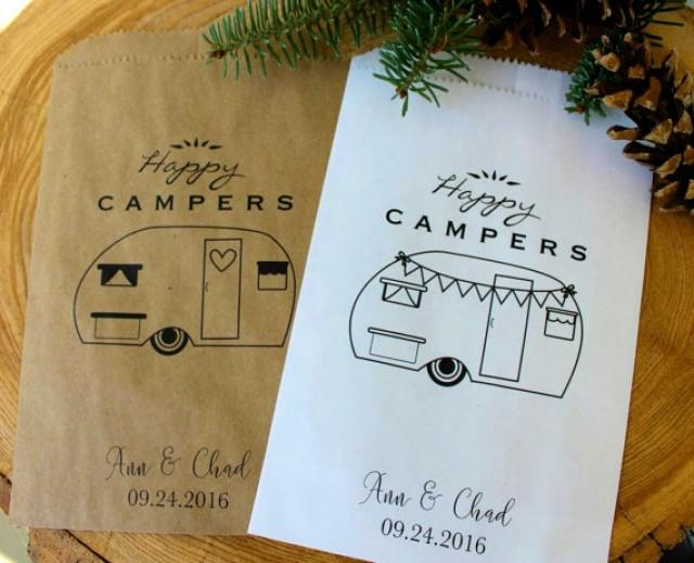 wedding photo - Favor Bags - Happy Campers - Wedding favors - Treat Bags