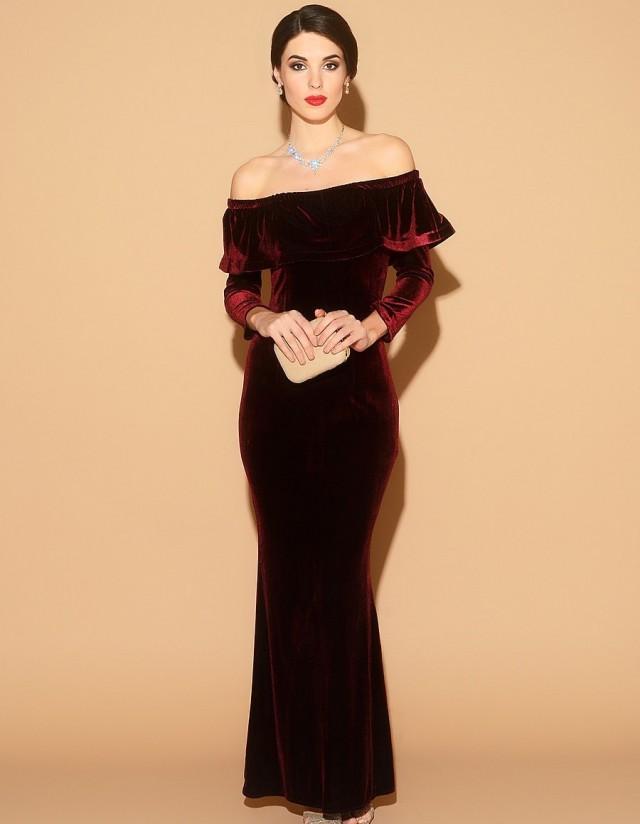 Formal cocktail length dress dress wallpaper for Velvet and lace wedding dresses