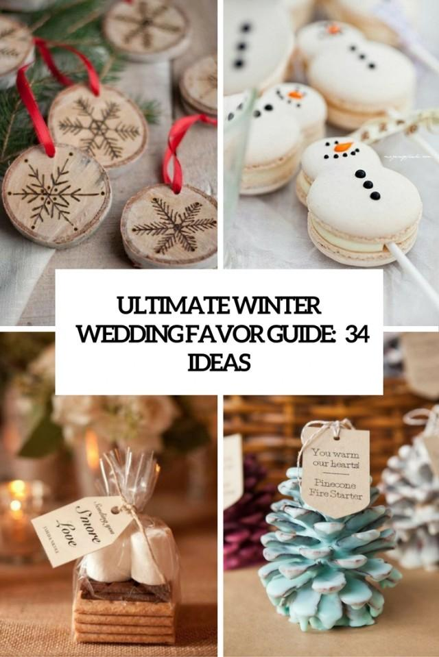 ultimate winter wedding favor guide 34 ideas weddingomania weddbook