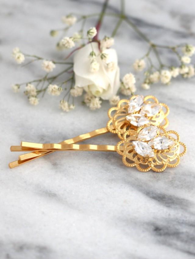 wedding photo - Bridal Hair Pin,Bridal Swarovski Bobby Pin,Bridal Crystal Bobby Pin,Wedding Hair Jewelry,Crystal Bridal Hair Jewelry,Bridal Crystal Hair Pin