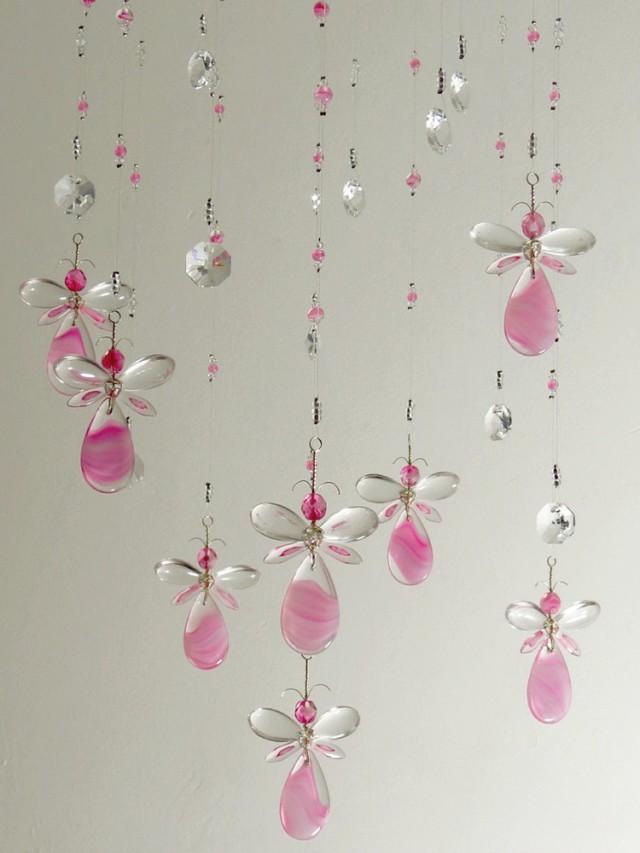 girls room decor xmas gift pink fairy chandelier mobile flower mobile angel babyshower gift baby girl mobile nursery mobile birthday gift 2586403