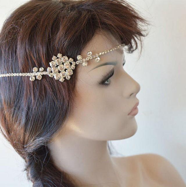 wedding photo - Wedding Headpiece, Wedding Headband, Bridal Headpiece, Bridal Hair Accessory, Hair Jewelry