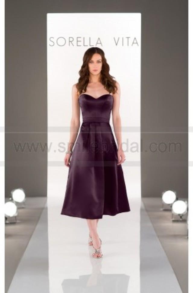 Sorella vita midi length bridesmaid dress style 8652 for Midi length wedding dress