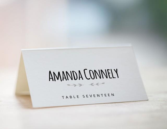 Printable place card template wedding place card template for Templates for place cards for weddings