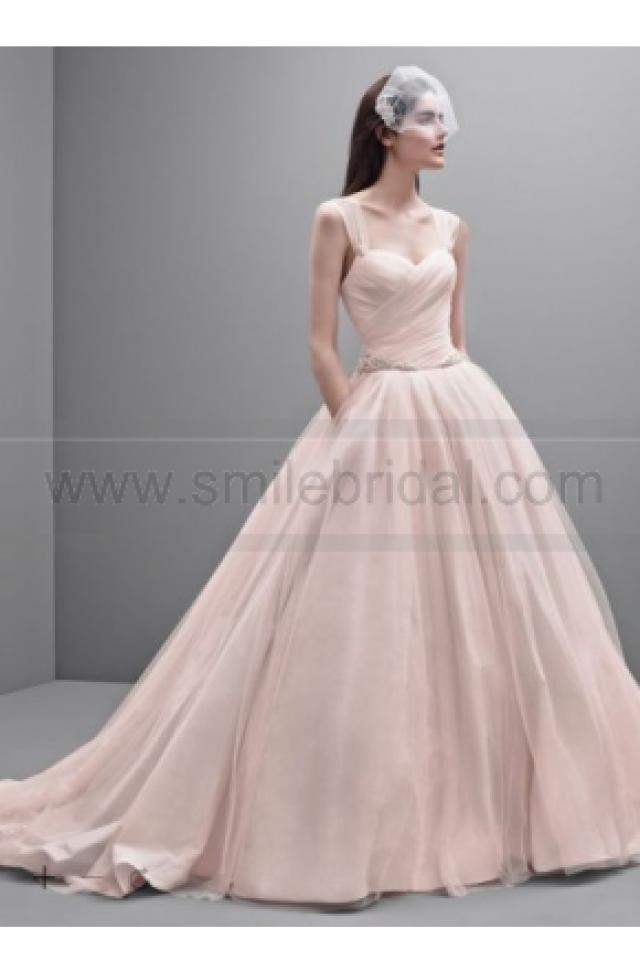 wedding photo - White by Vera Wang Taffeta and Tulle Wedding Dress VW351233