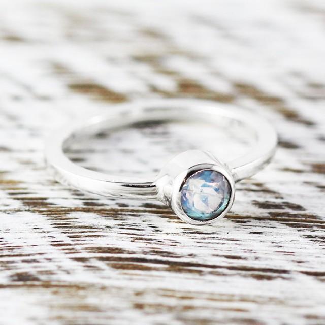 Moonstone Ring with Diamonds  Mirth  Moon Magic
