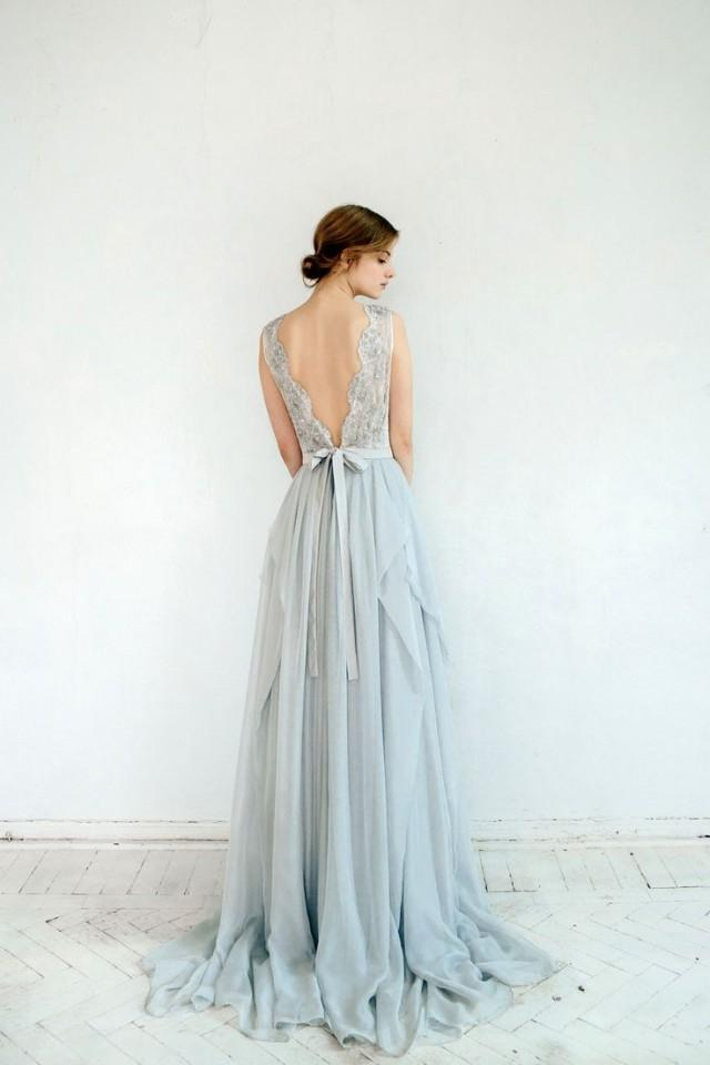 Dress silver grey wedding dress 2588768 weddbook for Gray dresses for a wedding