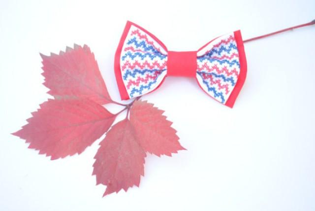 wedding photo - chevron bow tie embroidered red bowtie toddler necktie prop kids tie nautical bow ties boys blue chevron gift cheurón corbatas chicos azul