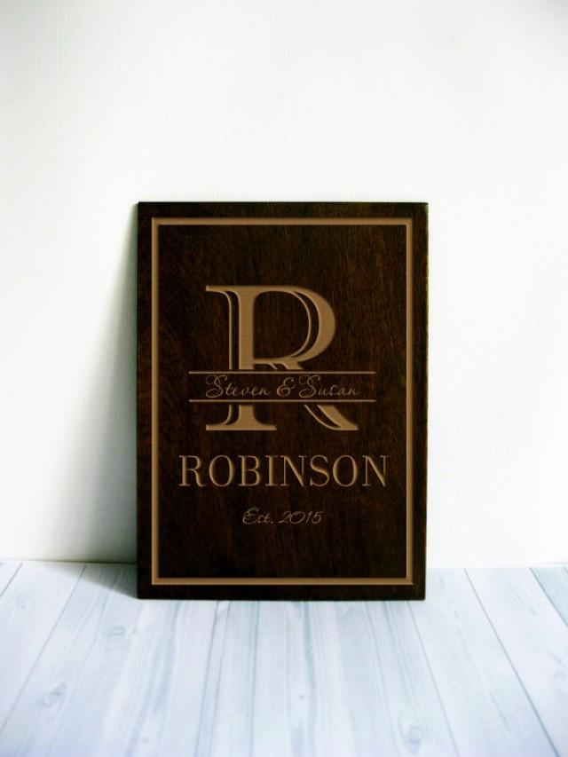 Personalized Wood Wall Decor : Custom anniversary gift personalized wedding gifts wood