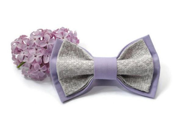 wedding photo - lilac grey bow tie groomsmen bow ties groom tie lavender wedding necktie gift for men birthday gift men's bowtie for boys kids ties kinkan