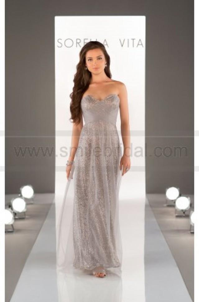 wedding photo - Sorella Vita Sequin Bridesmaid Dress Style 8684